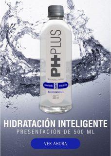 Agua Alcalina PH PLus 500 ML mejora tu salud