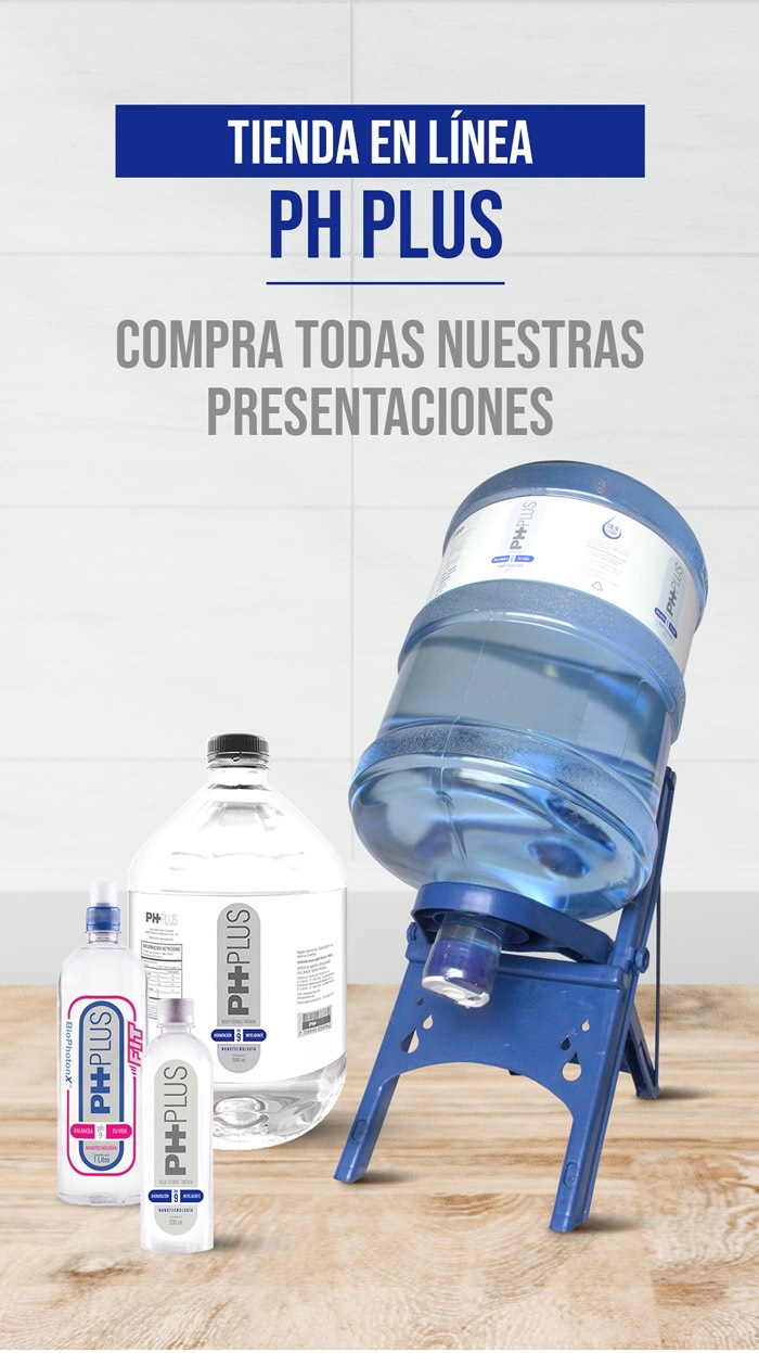 Compra en linea agua alcalina PH PLUS