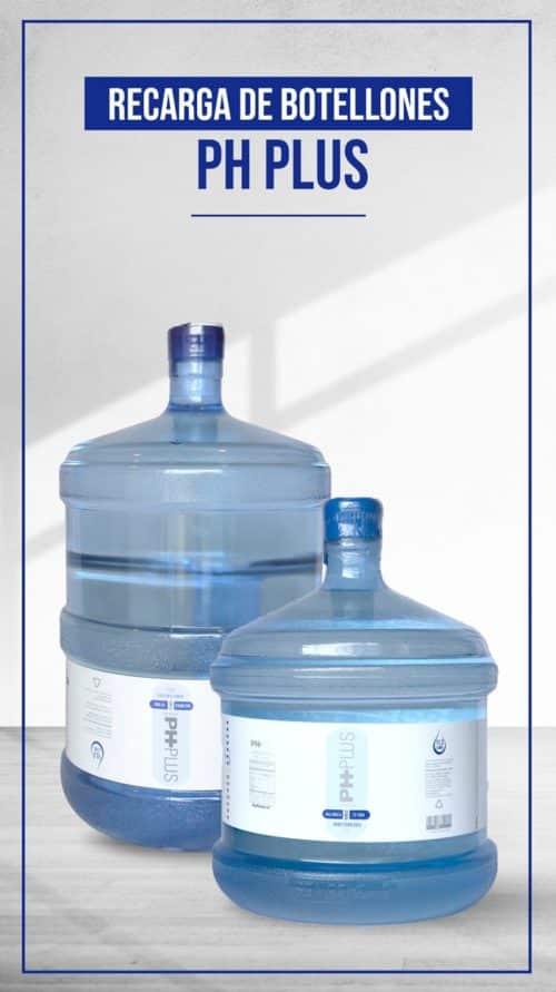 Botellones retornables de agua alcalina para tener una gran hidratación por mucho tiempo