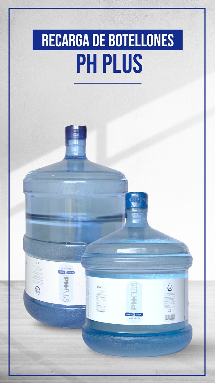complementa tu dieta alcalina con agua PH PLUS