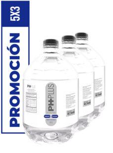 promoción de agua alcalina ph plus 5 litros