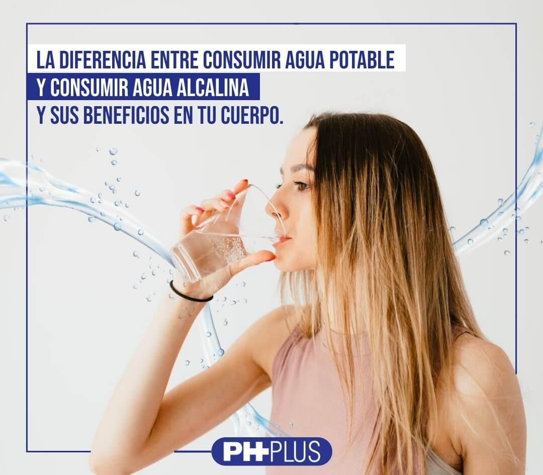 La diferencias entre agua alcalina y agua embotellada y sus beneficios en tu cuerpo